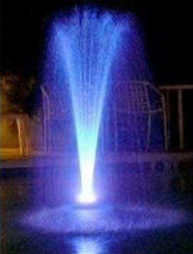 Custom Pro Floating Water Fountain with 48 Multicolor LED Lights, 1100 GPH Pond Pump, 25 Foot Power Cord & More - Easy Installation by Custom Pro