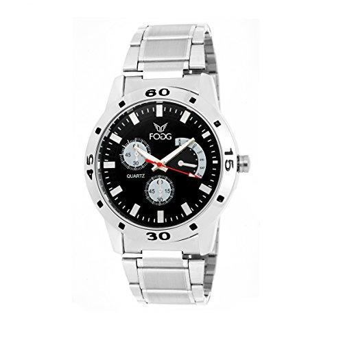 Fogg Analog Black Dial Men's Watch 2002-BK