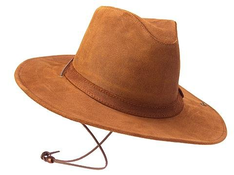 Minnetonka Western Hat Adult Aussie Durable Leather XL Brown 9543