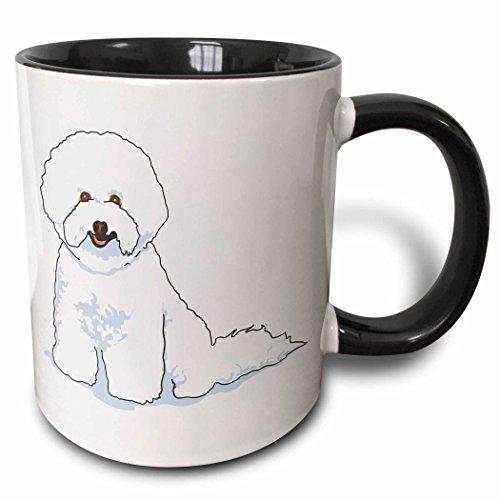 (3dRose 128941_4 Cute And Cuddly Canine Bichon Frise Mug 11 oz Black)