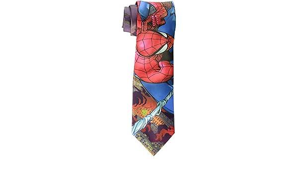 Marvel Hombre Burning City Spider Man Tie, rojo, un tama?o: Amazon ...