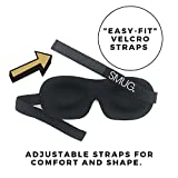 SMUG 100% Blackout Sleep Mask 2 Pack & Black Memory