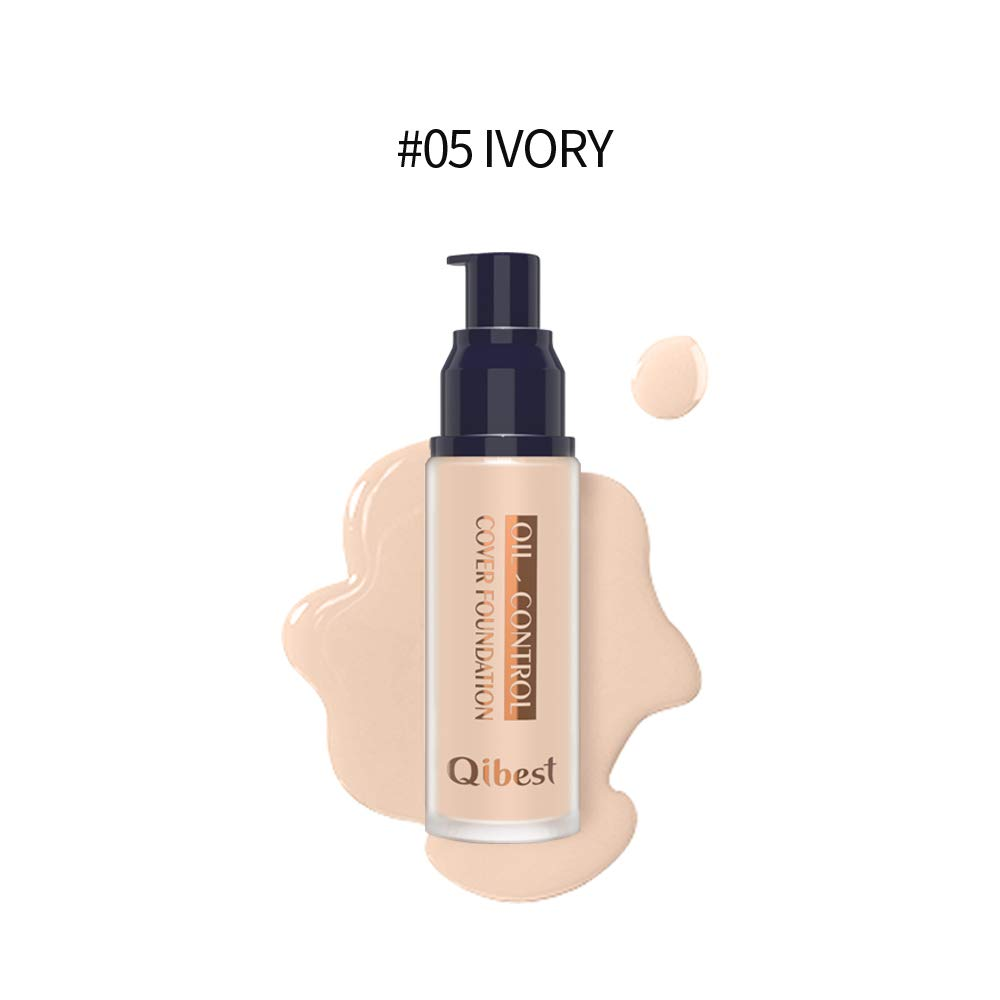 QIBEST Makeup Pro-Matte Liquid Longwear Foundation Face Primer, IVORY, 1 fl. Oz. (5)