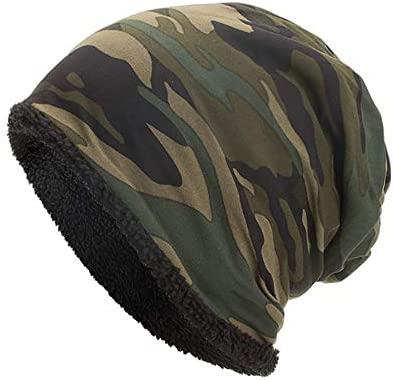 83b1c222d89 Amazon.com  minRan Winter Beanie Hat Scarf Set Warm Knit Hat Thick Knit  Skull Cap for Men Women CC Solid Ribbed Skull Cap (Army Green