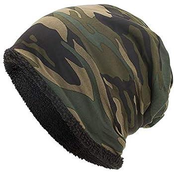 165a9fd05d5 Botrong Women Men Warm Baggy Camouflage Crochet Winter Wool Ski Beanie  Skull Caps Hat (Army Green)