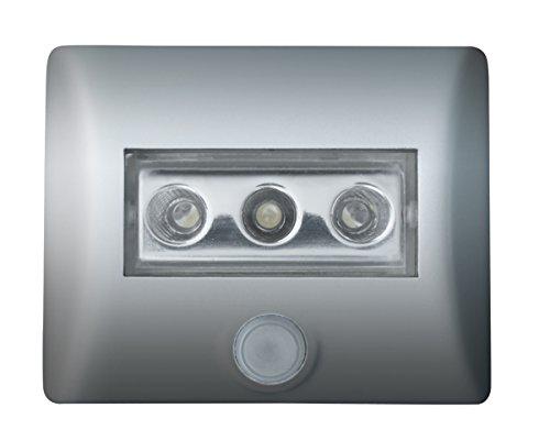 OSRAM LED-Licht mit Bewegungsmelder Nightlux LED-Nachtlicht / Dämmerungssensor / schwenkbar, batteriebetrieben, Tageslicht - 7000K, silber