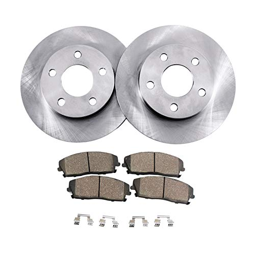 Detroit Axle - Pair (2) 321mm Front Disc Brake Rotors w/Ceramic Pads for 10-15 Lacrosse - [11-16 Regal] - 10-16 Equinox - 14-16 Impala - [13-16 Malibu] - 10-16 Terrain