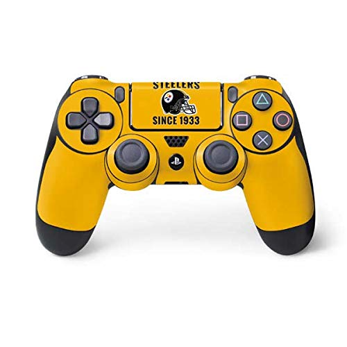 Skinit Pittsburgh Steelers Helmet PS4 Controller Skin - Officially Licensed NFL PS4 Decal - Ultra Thin, Lightweight Vinyl Decal Protective Wrap