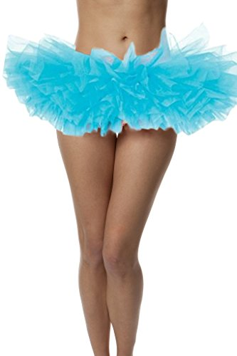 BellaSous Top Rated Adult Tutu Skirt, Ballet Tutu Style, by Perfect Princess Tutu, Adult Dance Skirt, Rehearsal Tutu Petticoat Skirt. Plus Size Tutu Available! Plus Size - Turquoise (Neon Green Organza Tutu)