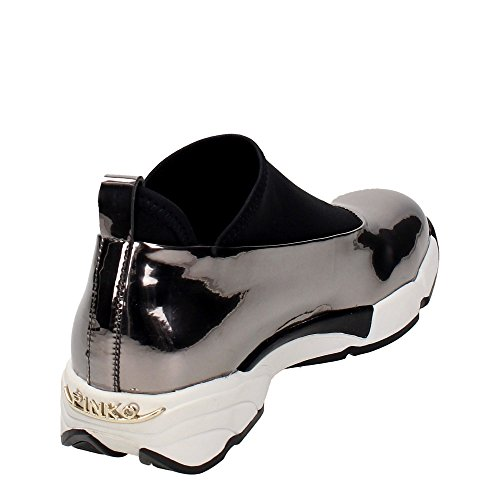 PINKO 1 I50 Baby Shoes 1H208E Gray Laminate 2016 Sneakers Shine Grey Women's Magnolia qEBwanUxBC