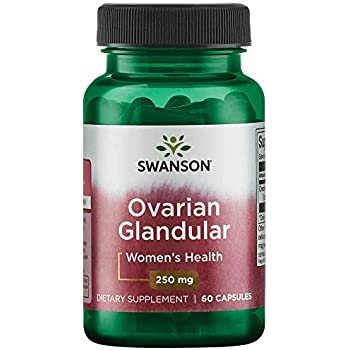 Swanson Ovarian Glandular Womens Hormone Ovarian Health Hormonal Balance Support Supplement 250 mg 60 Capsules