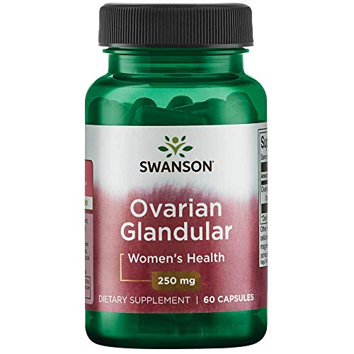 Swanson Ovarian Glandular Women's Hormone Ovarian Health Hormonal Balance Support Supplement 250 mg 60 Capsules (Plan B Pill Period Twice In A Month)