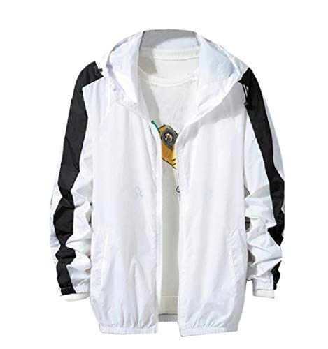 Hoodie Assorted Coat White Outdoor Breathable CuteRose Colors Mens Sunscreen t5qS01