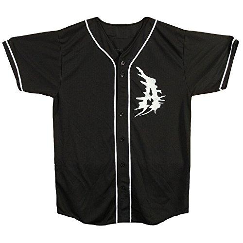 Attila Men's A Logo Authentic Baseball Jersey X-Large Black