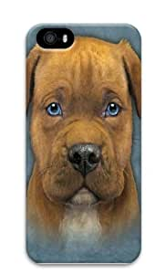 iPhone 5S Case,Pit Bull Puppy PC Hard Plastic Case for iPhone 5/5S 3D