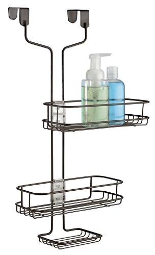 mDesign Adjustable Storage Shampoo Conditioner