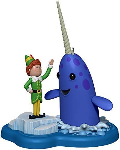 Hallmark Keepsake Christmas Ornament 2020 Elf Buddy`s Buddy Mr. Narwhal With Sound