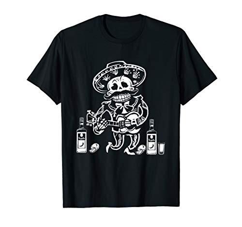 Mariachi Skeleton T-shirt Dia De Los Muertos Shirts Gifts -