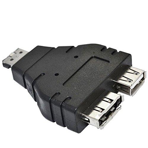 YOUKITTY 10pcs//lot Combo Power eSATA USB Male to eSATA Female /& USB Female Adapter 1 in 2 New