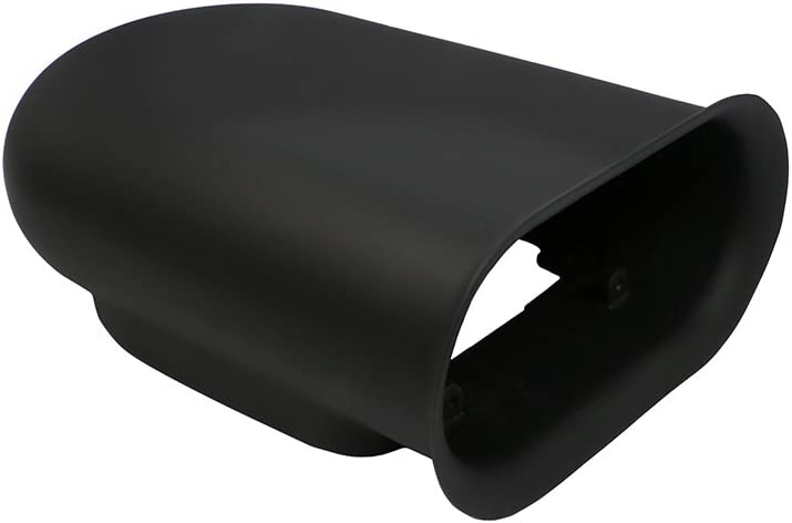 Single 4 BBL Carb Assault Racing Products A8002-PBK Black Aluminum Hilborn Style Smooth Hood Air Scoop Kit