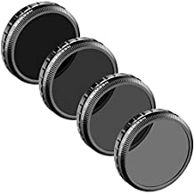 Neewer® for DJI Phantom 4, DJI Phantom 3 Professional and Advanced, Multi-Coated PL-ND Filter Set: PL-ND4, PL-ND8, PL-ND16, PL-ND32, Made of High Definition Glass, Not for DJI Phantom 3 Standard