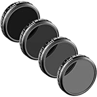 Neewer for DJI Phantom 4, DJI Phantom 3 Professional and Advanced, Multi-Coated PL-ND Filter Set: PL-ND4, PL-ND8, PL-ND16, PL-ND32, Made of High Definition Glass, Not for DJI Phantom 3 Standard