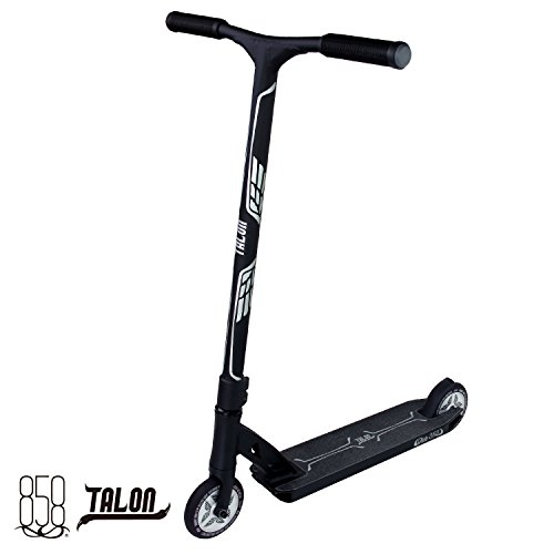 High Roller Scooter With Forged Neck Tube To Avoid Breaks + Light Strong Deck With Patent Reinforced Aluminium Bar For The Ultimate Performance By Ride 858 (MATTE BLACK/SILVER)