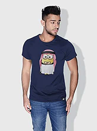 Creo Uae Minions Round Neck T-Shirt For Men - Navy, L