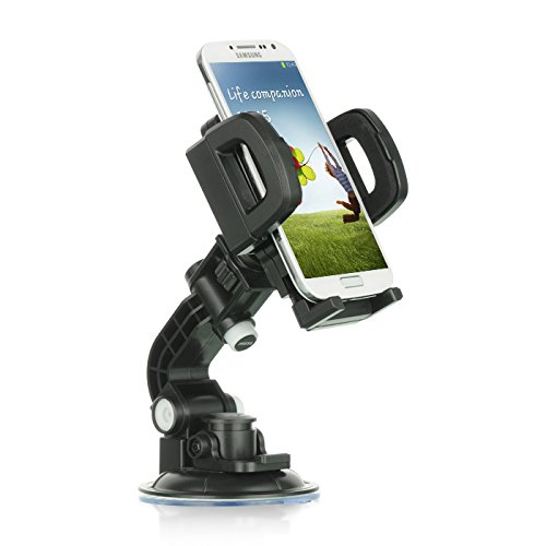 Mstechcorp- For ZTE ZMAX Z970 (T-Mobile) Heavy Duty Universal Car Mount Mobile Phone Holder Touch Windshield Dashboard Car Mount Holder (CAR MOUNT) (Zucca Long Wallet)
