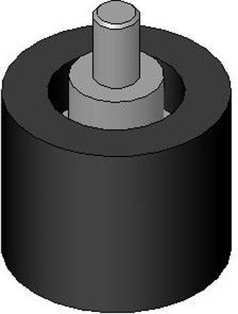 Urethane Size=2 1//2 dia x 1.94 Lg Stud Mount w//1//2-13 x 1.41 Lg Durometer=60 stud Roller 1 Each