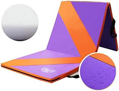 スポーツマット ストレッチマット ダンスマット プラス厚い 家庭 子 ゲーム クロールマット 防水 折り畳み可能 無臭、 2素材 GUORRUI (Color : A, Size : 80x183x4cm)