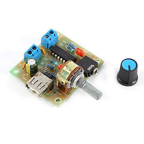 Módulo Amplificador Fuente Alimentación Audio Placa Amplificador USB PM2038 5 W