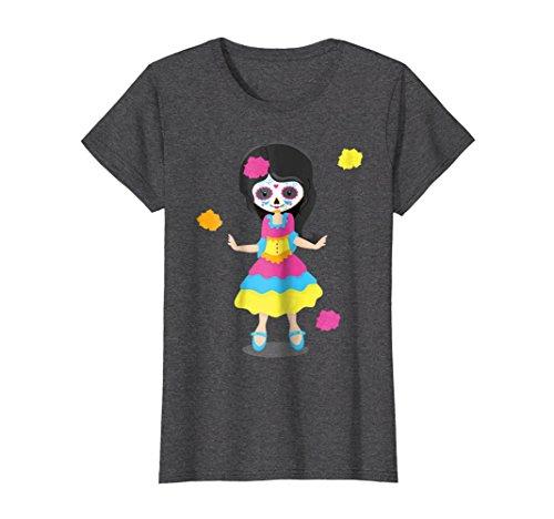 Womens Little girl Sugar Skull costume Mexico Dia