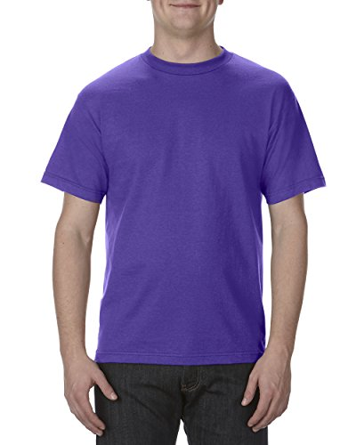 (Alstyle Apparel AAA Men's Classic Cotton Short Sleeve T-shirt, Purple, Large)