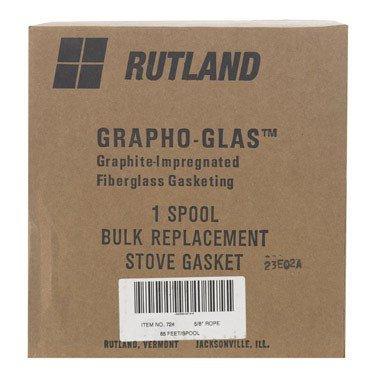 Rutland Stove Gasket 5/8 '' X 65 Ft. 1000 Deg. F Braided Black by Rutland (Image #1)