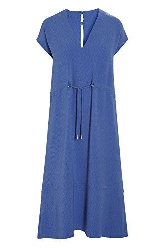 Damen Strukturiertes Crêpe next Kleid Blau 0PqXXT