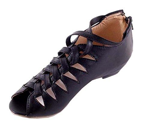 printemps sandales grande Noir taille Femmes wZqwY48