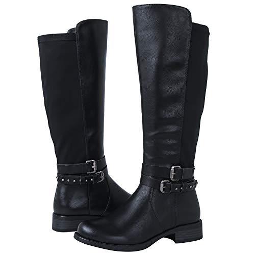 GLOBALWIN Women's 18YY23 Fashion Boots (7.5 M US Women's, 18YY23Black)