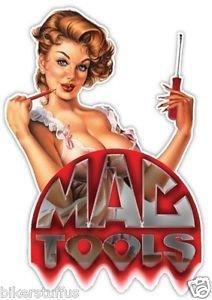 Mac Tools (MAC TOOLS BEAUTIFUL LADY BUMPER STICKER LAPTOP STICKER HARD HAT STICKER)