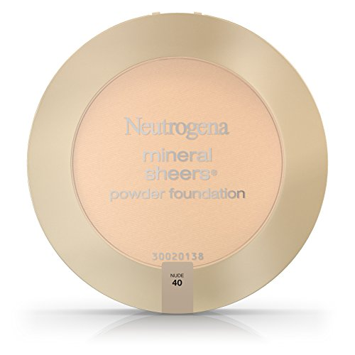 Neutrogena Mineral Sheers Compact Powder Foundation Spf 20, Nude 40,.34 Oz. (Pack of 2)