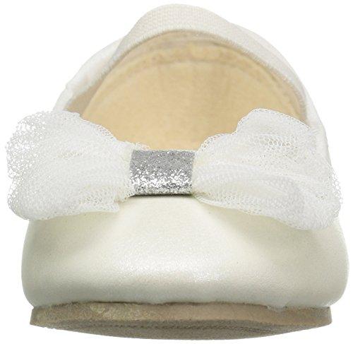 carter's Girls' Madalyn Ballet Flat, Ivory, 5 M US Toddler - Image 4