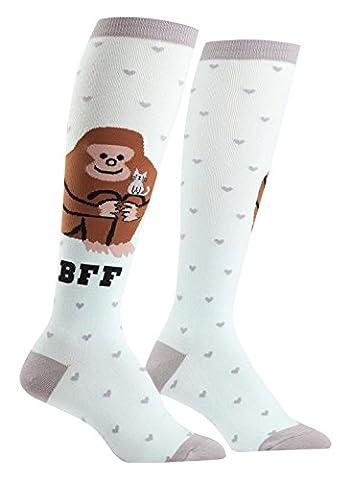 Sock It To Me Bigfoot Kitten Women's Knee High Socks Shoe Sizes 5-10 (Bigfoot Products)