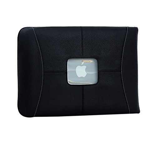 MacCase Notebook Sleeve - Side-loading - 10.75'' x 14'' x 0.75'' - Leather - Black - Black by MacCase