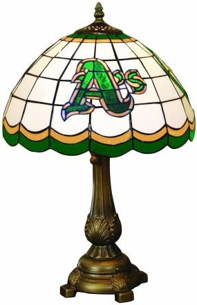 MLB Oakland Athletics Tiffany Table Lamp
