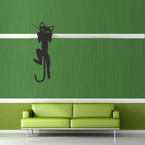 Wall Decal Cat Animal Paw Mustache Wool Funny Cartoon Cheerful bedroom M388