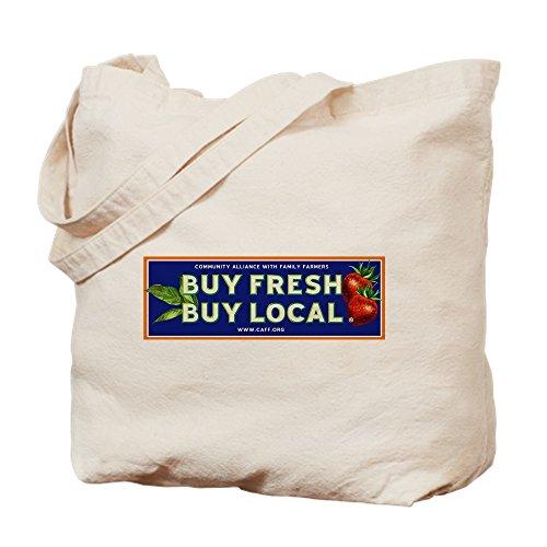 CafePress–Kaufen Fresh kaufen lokale Classic–Leinwand Natur Tasche, Reinigungstuch Einkaufstasche, canvas, khaki, S