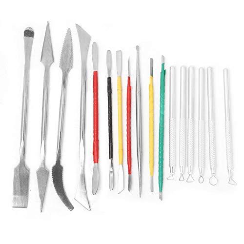 17 piezas herramientas de cerámica de bricolaje conjunto de herramientas de escultura de arcilla herramientas de…
