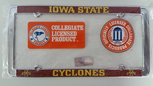 Iowa State Chrome Metal (New - Iowa State Cyclones Metal License Plate Frame - Auto Car Truck Chrome)
