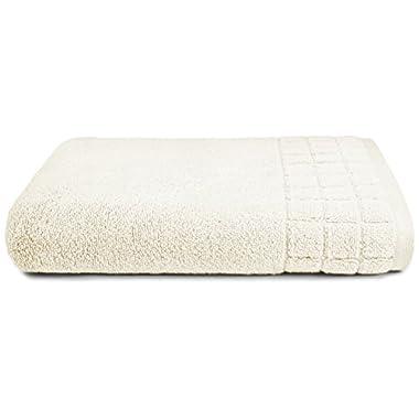 Calvin Klein Home Sculpted Grid Bath Towel, Cream