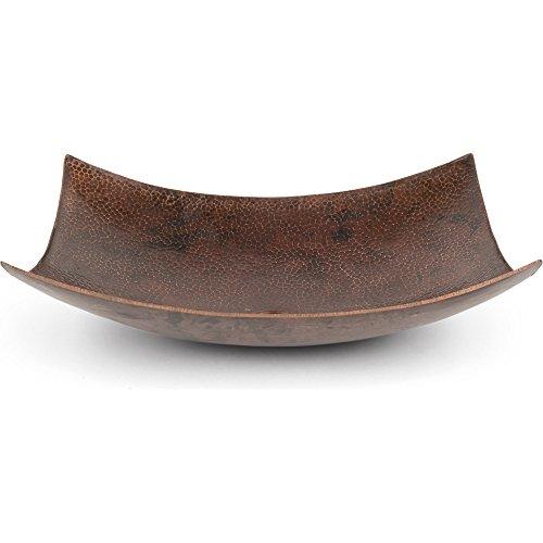 - Rectangular Modern Slope Hammered Copper Sink